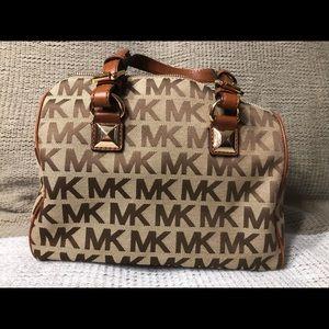 Authentic Michael Kors canvas purse